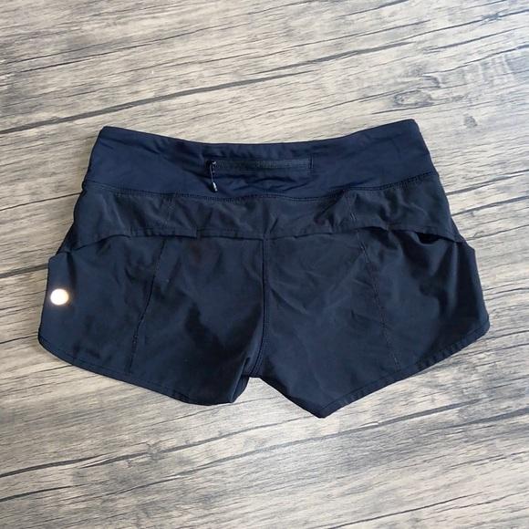 Lululemon speed shorts black 4